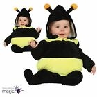 Baby Toddler Buzzy Bumble Bee Insect Hive Fancy Dress Costume Outfit Tabard Hood