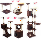 """16""""—80"""" Cat Tree Tower Condo Furniture Scratching Post Pet Kitty Play House"""