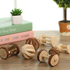 Natural Pine Dumbells Unicycle Bell Roller Chew Toy For Guinea Pig Rat Rabbit UK