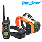 PETRAINER Remote Pet Dog Training Shock Collar Waterproof Trainer For 2-3 Dogs