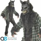 FULL MOON MADNESS WEREWOLF HALLOWEEN MENS COSTUME WITH ANI MOTION MASK WOLF