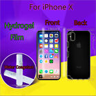 Ultrathin Full Coverage Shockproof Soft Hydrogel Protector Film For iPhone X Lot