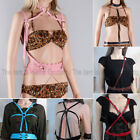 Lady Women Leather Body Bondage Cage Chest Sculpting Harness Waist Belt Adjusted