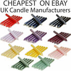 5x Tapered Dinner Candles Non-drip & Run Line, Individually Wrapped, Top Quality