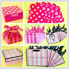 VICTORIA'S SECRET, PINK DOG, STRIPE Holiday Small GIFT Shopping PAPER BAG LOT