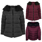 Tokyo Laundry Womens Designer Adley Coat Ladies Quilted Faux Fur Hooded Jacket
