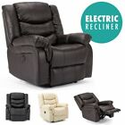 SEATTLE ELECTRIC LEATHER AUTO RECLINER ARMCHAIR SOFA HOME LOUNGE CHAIR