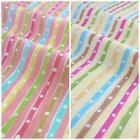 Spotty Rainbow stripe 100% cotton fabric, lemon or pink colour 112cm wide