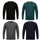 Kensignton Eastside Mens Designer Ikar Jumper Knitted Crew Neck Ribbed Pullover