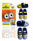 Boys Minions Slippers New Kids Despicable Me Infant Night Bed Shoes UK 6 - 12
