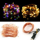 5M 50 Led USB connector String Fairy Lights Garland Copper Wire, Energy Saving