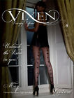 SEXY BLACK VIXEN MAY FISHNET BACKSEAM BOW TIGHTS  BY COUTURE®-FANCY DRESS,PLAY