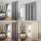 CARLTON FULLY LINED TAPE TOP CURTAINS READY MADE PENCIL PLEAT PAIRS