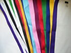 32' SPORT NECK RIBBON WITH CLASP ASSORTED COLORS FOR MEDALS