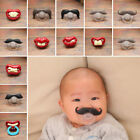 Orthodontic Baby Nipples Pacifier Silicone Kids Dummy Mustache Funny Teeth Beard