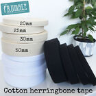Natural/White/Black Cotton Twill Herringbone 5m Roll - Bunting Tape Twill Tote B