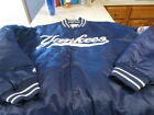 NWT New York YANKEES Authentic blue Quilted Satin Dugout jacket size 4x