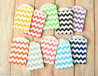 Chevron Small Paper Bags 100pc cute zigzag sweet treat mini party favour bags BN