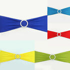 200pcs Lycra Chair Band With 2 Rows Round Buckle Spandex Stretch Wedding Party