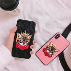 Cartoon Cute Crown Cat Lace Sexy embroidery case Cover for iPhone 6S 7 8 Plus X
