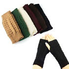 Fashion Women Winter Wrist Arm Hand Warmer Knitted Long Fingerless Gloves Mitten