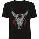 Dreamcatcher Skull T-Shirt by HEROLUX - Tattoo, Vintage, Rock, Native American