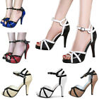 Women Classy Dress Retro Sandal Party Prom High Heels Pumps Bridal Wedding Shoes