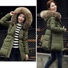 Winter Warm Women Hooded Big Fur Collar Slim length Long Sleeve Down jacket