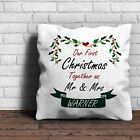 Our First Christmas Together As Mr & Mrs Cushion - You Choose Name