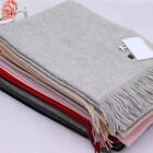 Acne Pure Color Pashmina Cashmere Wool Scarf Shawl Wrap Fine Knit Nepal Unisex