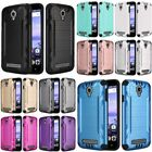 For Coolpad Canvas Dual Layer Hybrid Brushed PC/TPU Rubber Case Cover