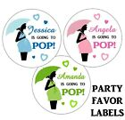 20 BABY SHOWER READY TO POP STICKERS for FAVORS BOY OR GIRL ~popcorn,  2 inches