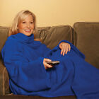 New ! Snuggie Fleece Blanket Sleeves Soft Throw Blanket - Blankets and Throws image