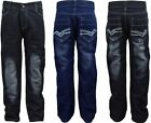 Boys Jeans Classic Straight Leg Denim Trousers Pants Kids Clothes Ages 9-12 Year