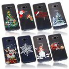 Christmas Xmas Holidays Season Winter Festive Print Slim TPU Silicone Case Cover