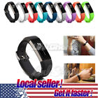 US New Replacement Silicone Wrist Band Strap Clasp Buckle For Fitbit Alta / HR r image