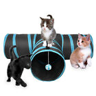 Pet Life 3-Way Kitting-Go-Seek Interactive Collapsible Passage Kitty Cat Tunnel