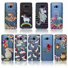 Unicorn Animal Magical Cartoon Print Slim Flexible Clear TPU Silicone Case Cover