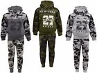 Boys Army Jogging Suits Camouflage Tracksuits Hoodie Joggers Kids Clothes 3-12yr