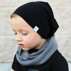 Winter Fall Boys Girls Kids  Baby Toddler Cotton Soft Warm Bobble Hat Beanie Cap