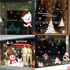 US Christmas Vinyl Window Wall Stickers Decal Snowman Remova