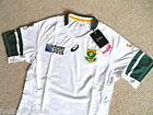 S M L XL XXL Asics SOUTH AFRICA RUGBY WORLD CUP TEST BODY JERSEY Shirt ALTERNATE