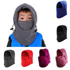 Kids Child Unisex Warm Fleece Balaclava Motorcycle Ski Outdoor Face Mask Hat US