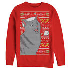 Lost Gods Ugly Christmas Sweater Food Cat Womens Graphic Sweatshirt