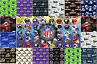 """100% Cotton Fabric Pre-Cut NFL MLB Teams 58-60""""Wide Licensed Sold By The Yard"""