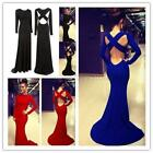 backless dresses uk - Sexy Women's Long Sleeve Backless Formal Prom Cocktail Party Dress Evening Gown