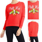 Brave Soul Womens Christmas Cracker Sweatshirt Ladies Festive Pull Me Jumper