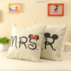 Mr&Mrs Valentine's Love Wedding Linen Pillow Case Cushion Cover Home Sofa Decor