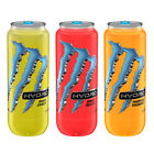 NEW Monster Hydro 16.9 Ounce Clear Can, Pack 12, Free Shipping