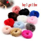 Fashion Fluffy Faux Fur Furry Scrunchie Elastic Hair Ring Rope Band Tie